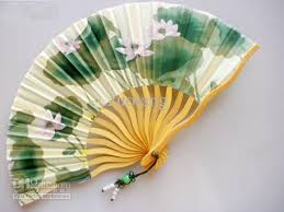 silk fans 7 tassel wedding bridal fan floral silk