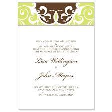 wedding announcements green brown wedding announcement templates jordana espresso do