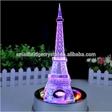 eiffel tower centerpieces wholesale rotates led base tourist eiffel tower