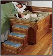 Building Plans For Bunk Beds With Stairs by A Bed With A Built In Dog Bedsid Bunk Bed Plans With Stairs