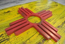 3d new mexico flag state flag zia wall art reclaimed wood