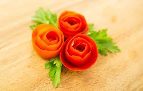 how to make tomato rose garnish youtube