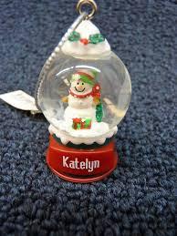 ganz personalized name snowman snow globe ornament k thru p