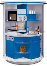 revolving circle compact kitchen home design