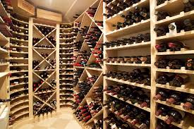Wine Cellar Shelves - corner wine rack with wine boxes wine cellar traditional and