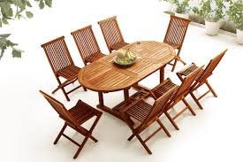 Teak Table And Chairs Oval Table 8 Chairs Teak Oiled Bobochic Paris