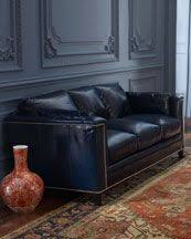 Leather Blue Sofa Blue Leather Sofa Interior4you