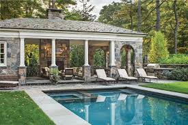 new york backyard pavilion plans pool traditional with built in