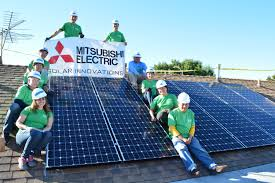 mitsubishi electric mitsubishi electric and csulb students install solar systems for