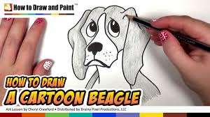 how to draw a beagle dog drawing lesson cc youtube