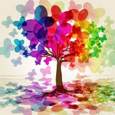 colorful butterfly tree vector free vector in encapsulated
