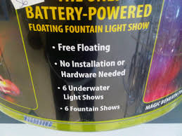 battery operated floating pool lights underwater pool light and fountain with remote battery operated
