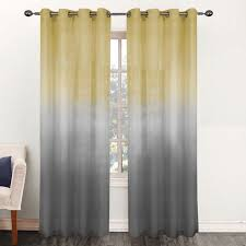 Ombre Sheer Curtains Rainbow Ombre 84 Inch Sheer Curtain Panel 52 X 84 Free