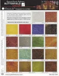Stain Color Chart Concrete Coating Color Chart Acid Stained Concrete Chattanooga Huntsville U0026 Nashville