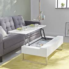 table pour canapé table basse avec tablette relevable blanche interior