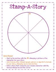 stamp a story writing center activity