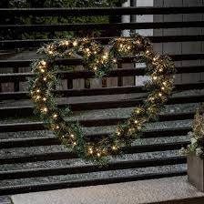 led lit door wreath battery powered