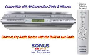 under cabinet stereo cd player buy sony under the cabinet space saving stereo sound system with cd