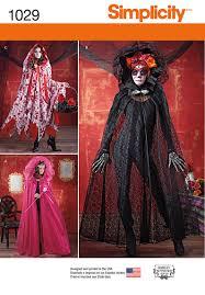 Simplicity Halloween Costumes Simplicity 1029 Misses Cape Costume