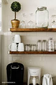 best 25 rustic floating shelves ideas only on pinterest a subway tile wall has been on my wish list for our kitchen forever we