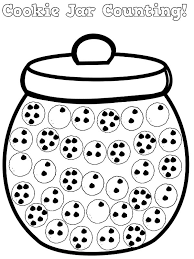 Cookie Jar Counting Coloring Pages Coloring Sky Coloring Cookies