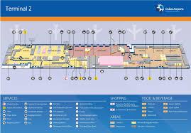 dubai airport terminal 2 map dubai terminal 2 map united arab