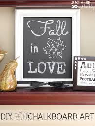 diy fall chalkboard art beautiful personalize and art