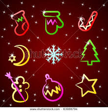 vector christmas icons stock vector 63286852 shutterstock