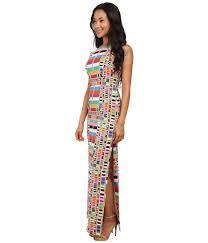 mara hoffman cutout back column dress lyst