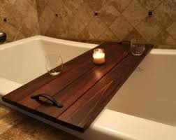 wood bath caddy etsy