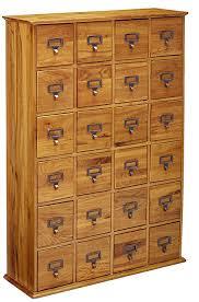 library file media cabinet amazon com leslie dame cd 456 solid oak library card file media