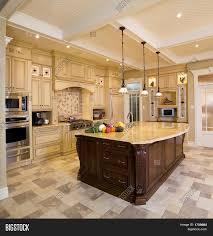 big island kitchen beige kitchen large island image photo bigstock