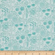 tales of the sea linework sea life white accent colors fabrics