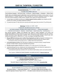 It Security Resume Examples by Sample It Resume 7 Resume Example It Security Careerperfect Com
