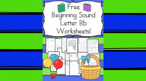 beginning sounds letter b worksheets free and fun