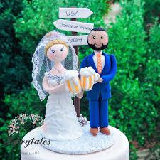 beer u0026 travel wedding cake topper fairytales handmade
