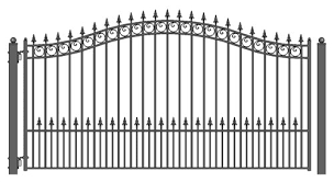 prague new style iron wrought gate 12 high quality ornamental