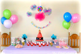 simple birthday decoration ideas at home for living also table