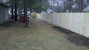 chain link split rail and privacy security fences installed in