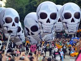 day of the dead 2017 thousands take to mexico city streets to