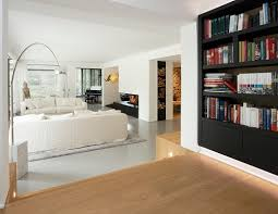 in livingroom the interior design decoration to place a bookshelf in living