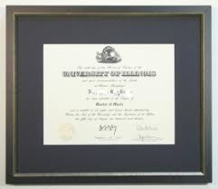 of illinois diploma frame framing for the graduate avenue frame shop custom picture