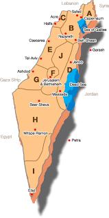 sheva israel map map of israel jtours