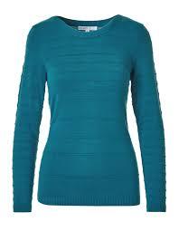 turquoise ottoman stitch sweater cleo