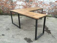Homemade Wood Computer Desk by Reclaimed Wood L Shaped Desk Stuff To Buy Pinterest Desks