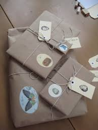 postal wrapping paper brown paper string postal tags and illustrations photography