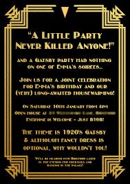 gatsby invitations gatsby invitation border