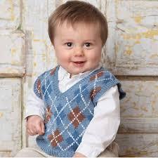 ravelry baby argyle sweater vest pattern by sherrie kibler
