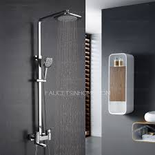 Exposed Outdoor Shower Fixtures - modern square brass rotate bathroom outdoor shower faucets system