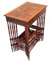 antique regency specimen wood nest of 5 coffee tables c 1835